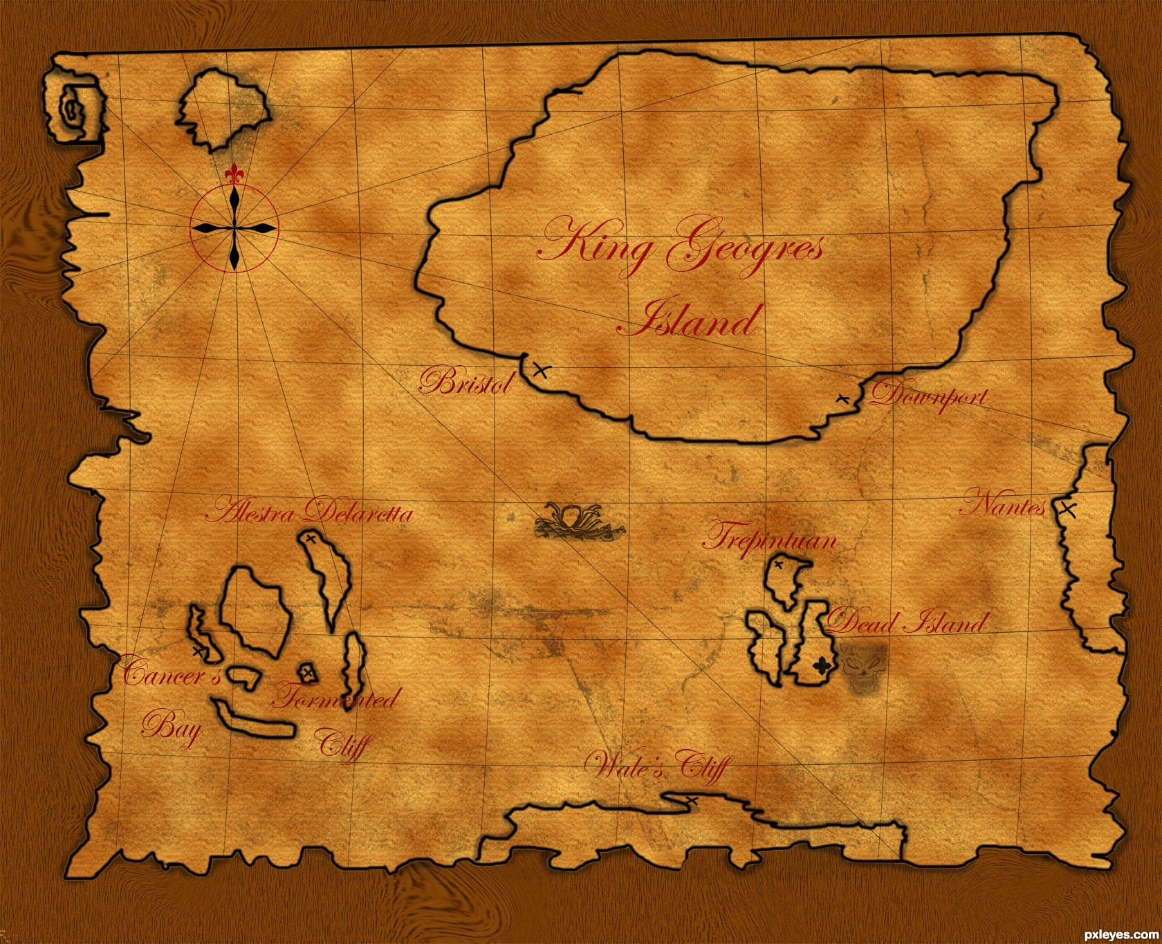 Treasure map picture, by theudulf for: pirates photoshop ...