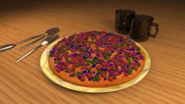 Cherry pizza