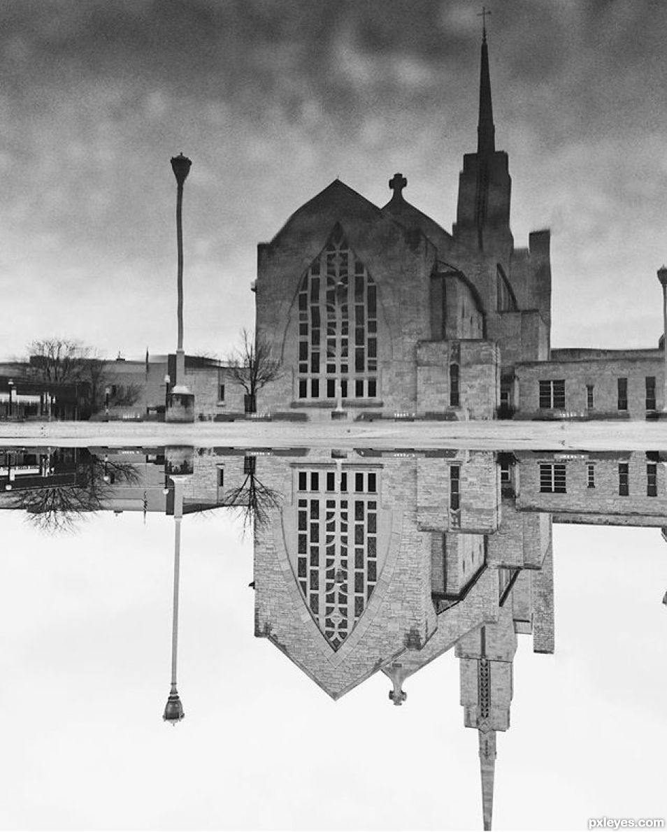 Cathedral Puddle Reflection (Entry number 101484)