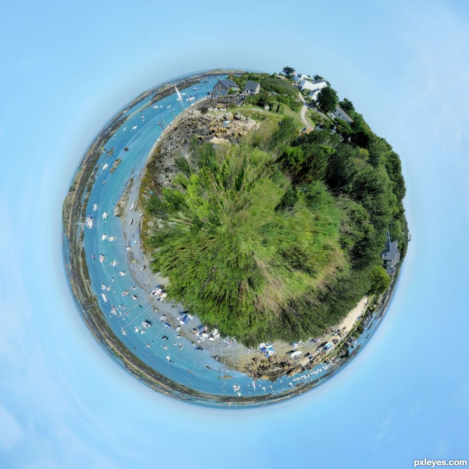 Little planet at low tide