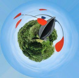 Calder mobile planet