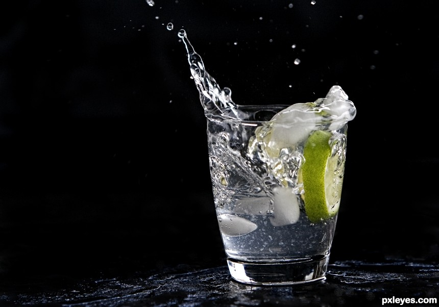 Iced Lime Water photoshop picture)