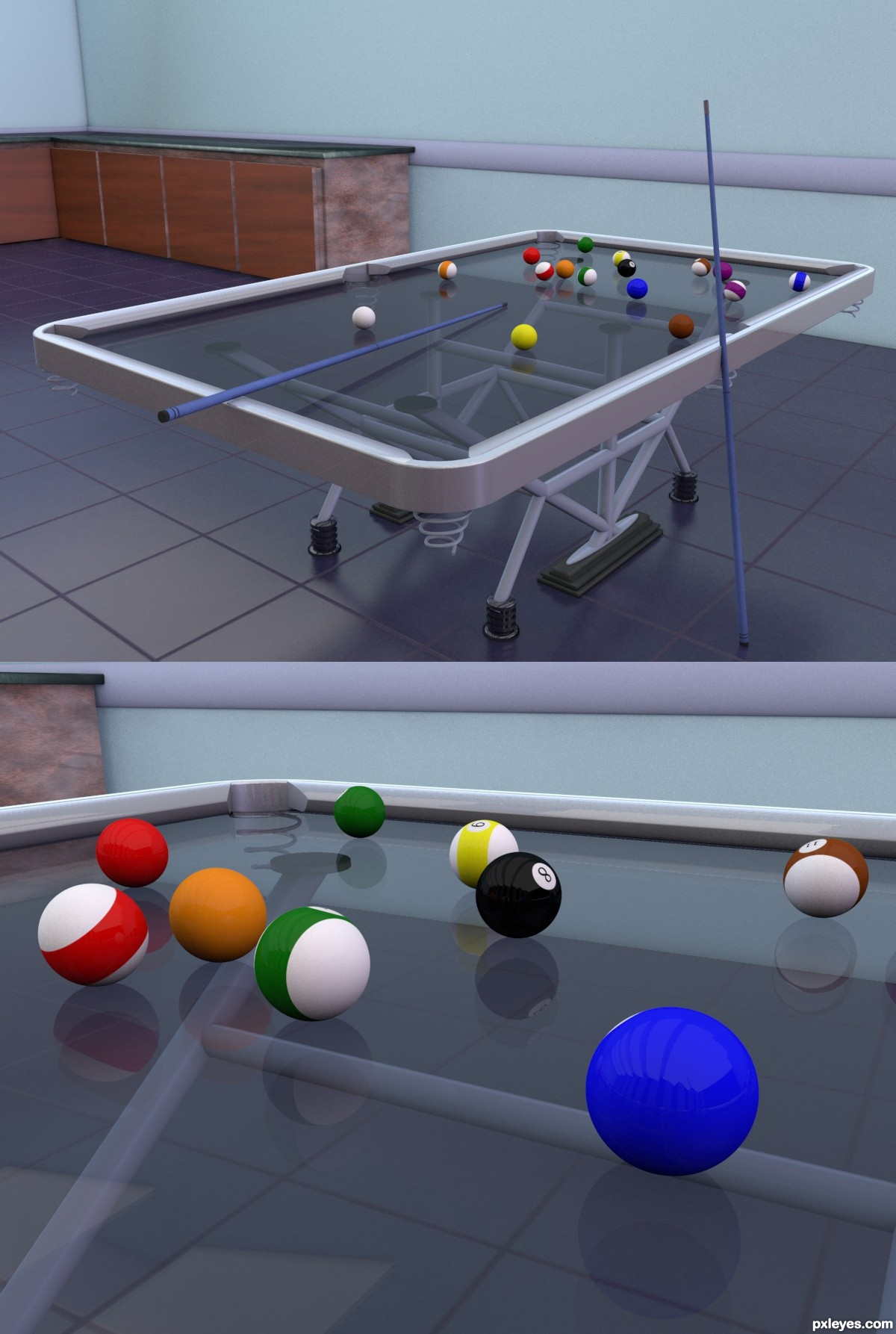 Glass Pool Table Picture By Ory For Pool Table 3d