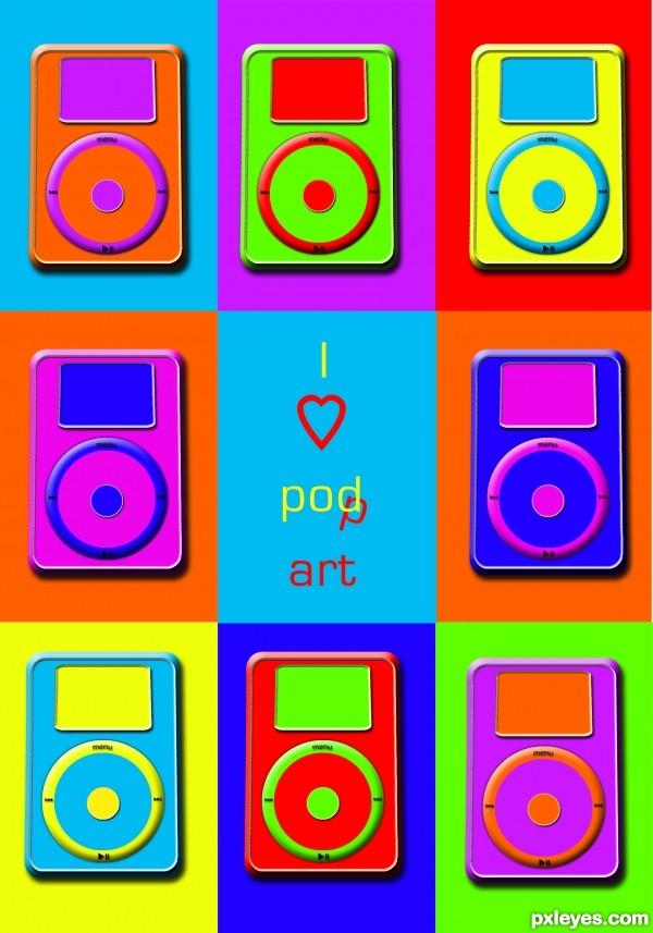 I love pop/pod art