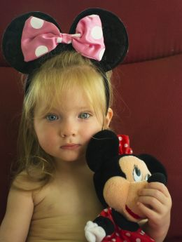 Gianna with Minnie Mouse