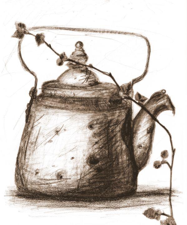 Old russian tea pot