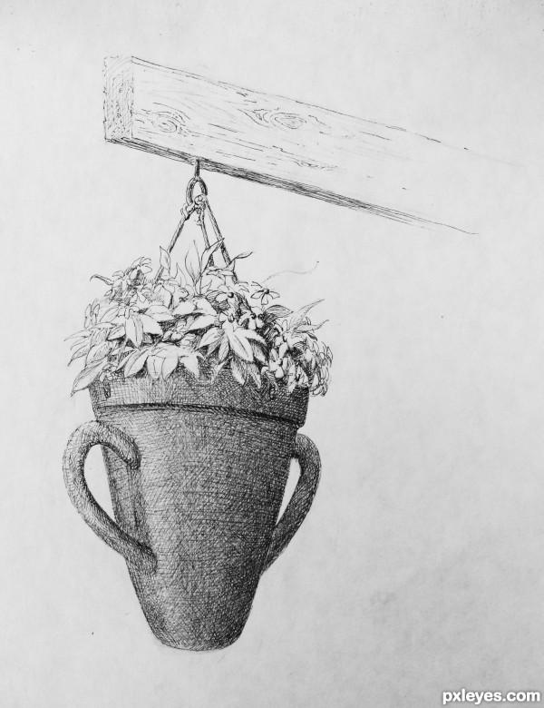 Flower Pot Drawing In Pencil Shade Www Pixshark Com Pots Color Drawing