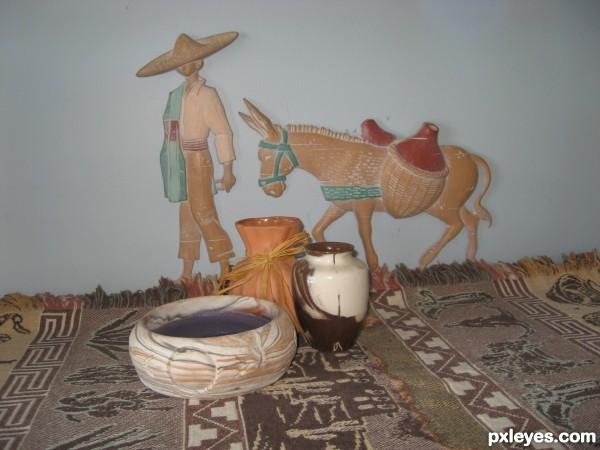 Fireplace pottery