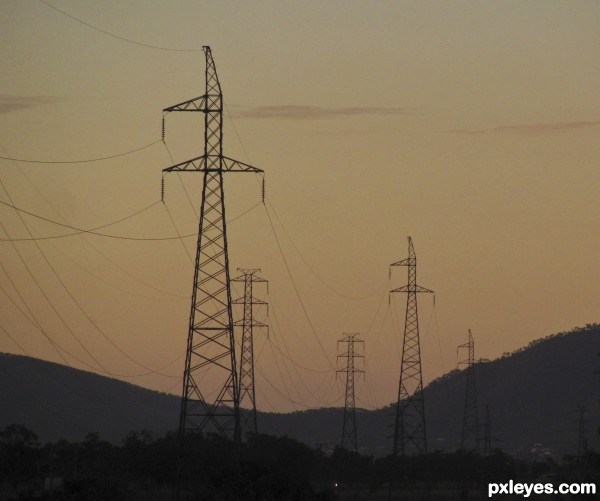 Powerlines and powerpoles