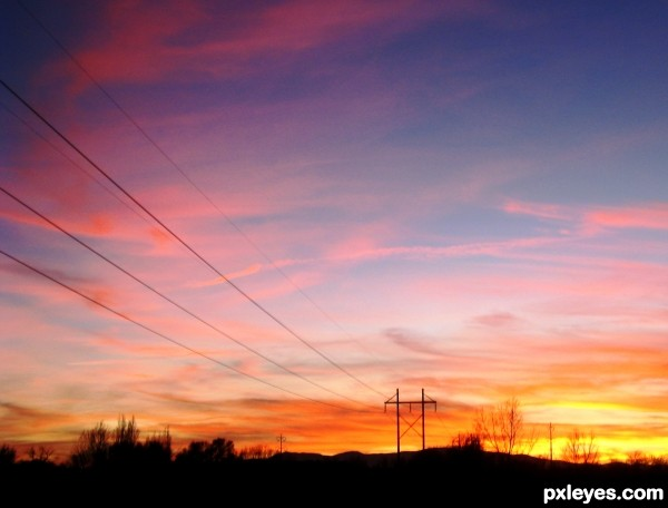 Power Pole Sunset