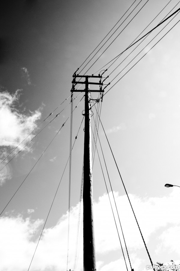This is a Power Line Pole