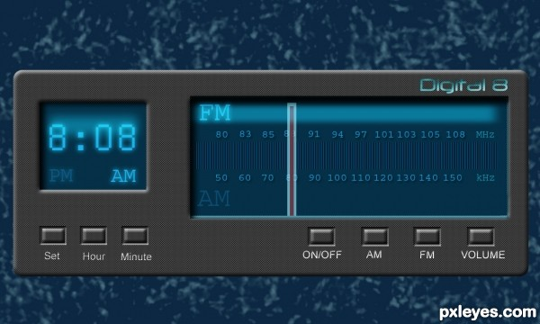 Digital 8 Radio Clock