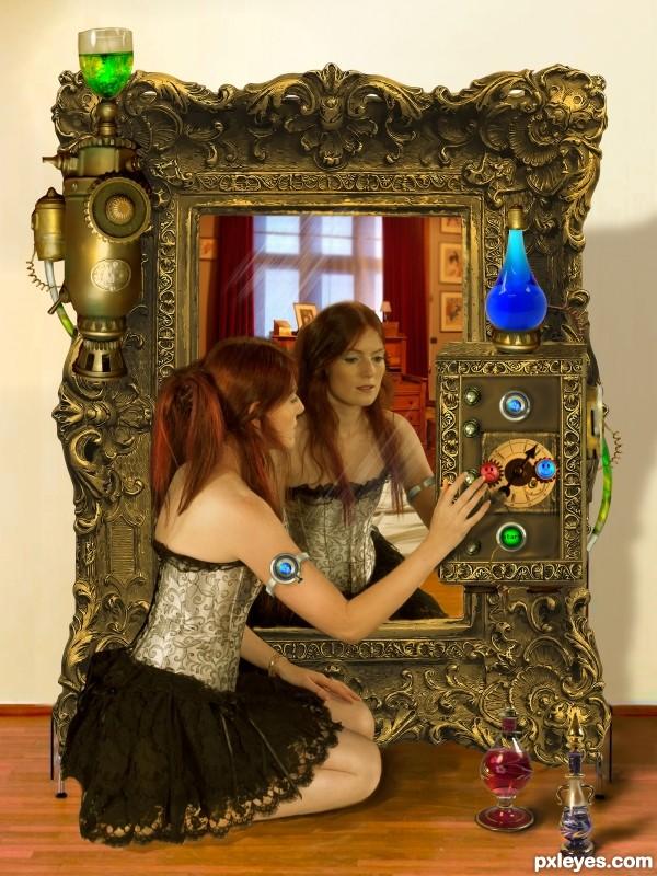 Creation of Happy Mirror: Final Result