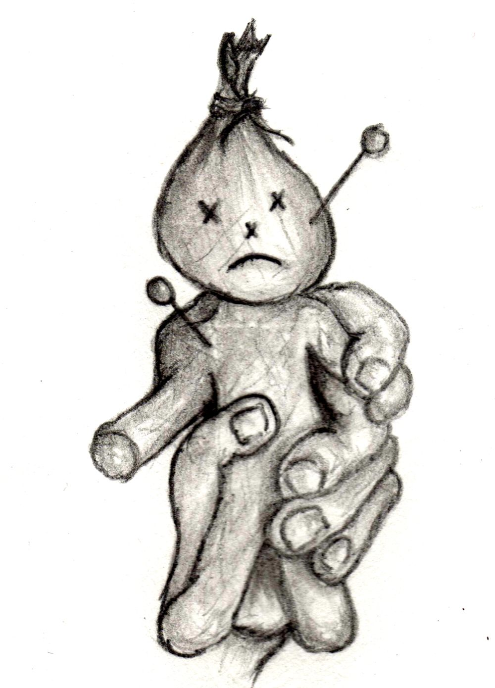 voodoo doll drawings - HD 1000×1390