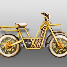 Gold Bicycle Picture