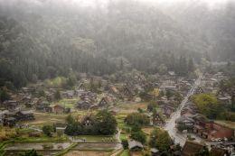Shirakawa in the Rain