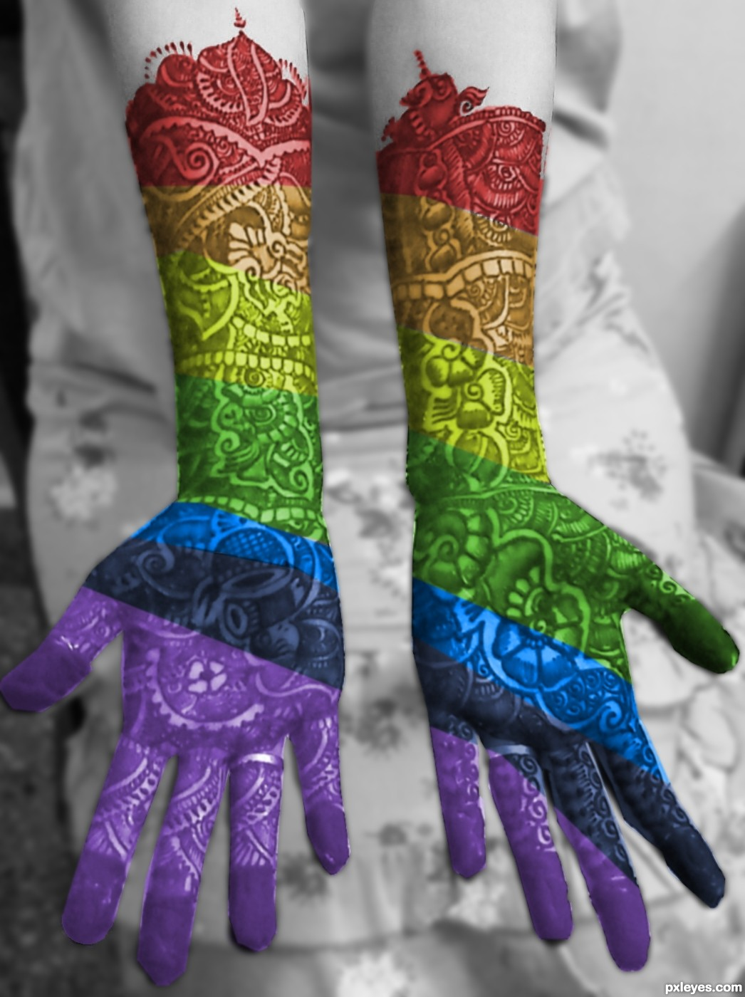 Henna Tattoo Colors: Rainbow Mehendi Picture, By Rad54 For: Rainbowified