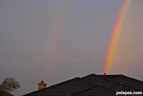 Double Rainbow Over Neighbors House