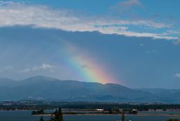 Nice fat rainbow