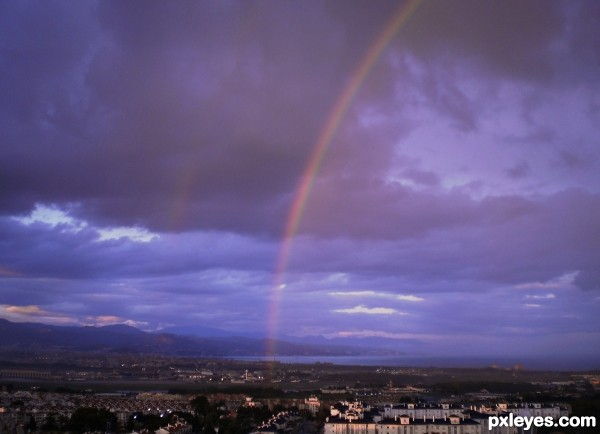 Rainbow oer Malaga