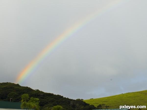 rainbow in the bays