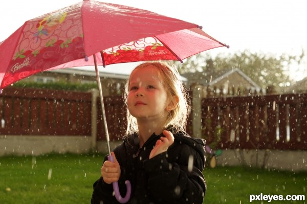 Water drops falling and falling down...