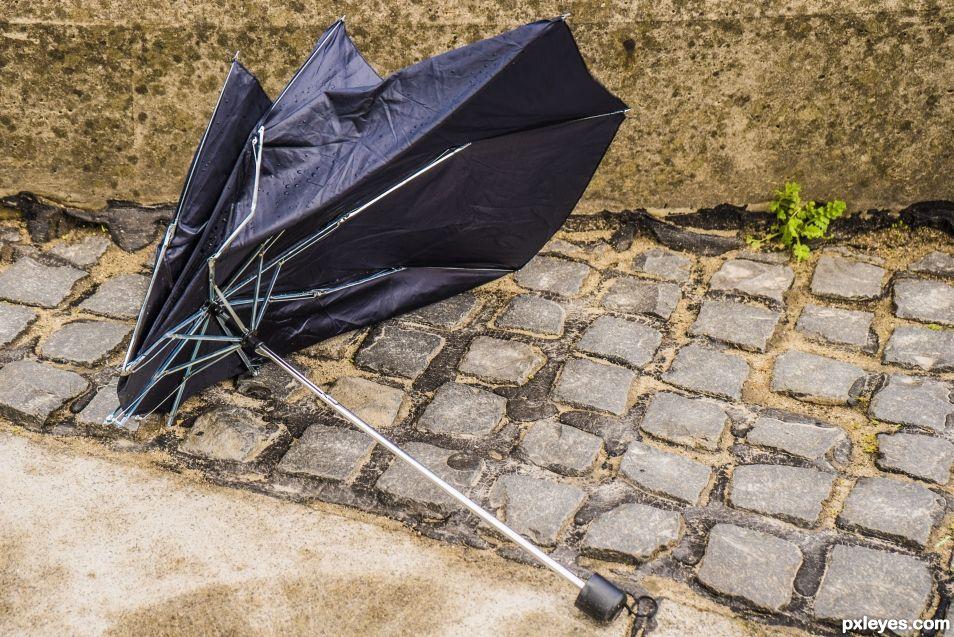 That poor umbrella