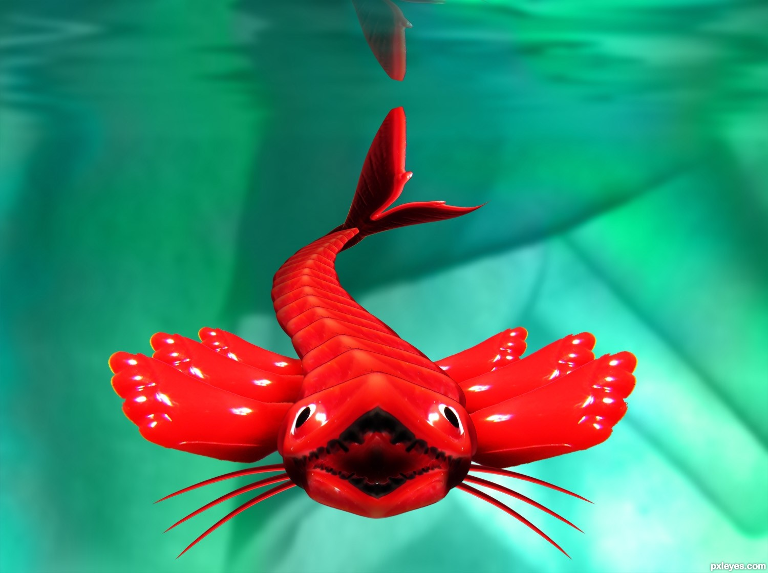 Red Dragon Fish | Red Dragon Photoshop Contest 17038 Pictures Page 1 Pxleyes Com