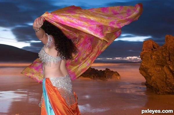 Belly Dancer on Red Lake
