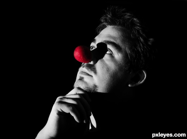 Dr. Bobo, Clown Philosopher photoshop picture)