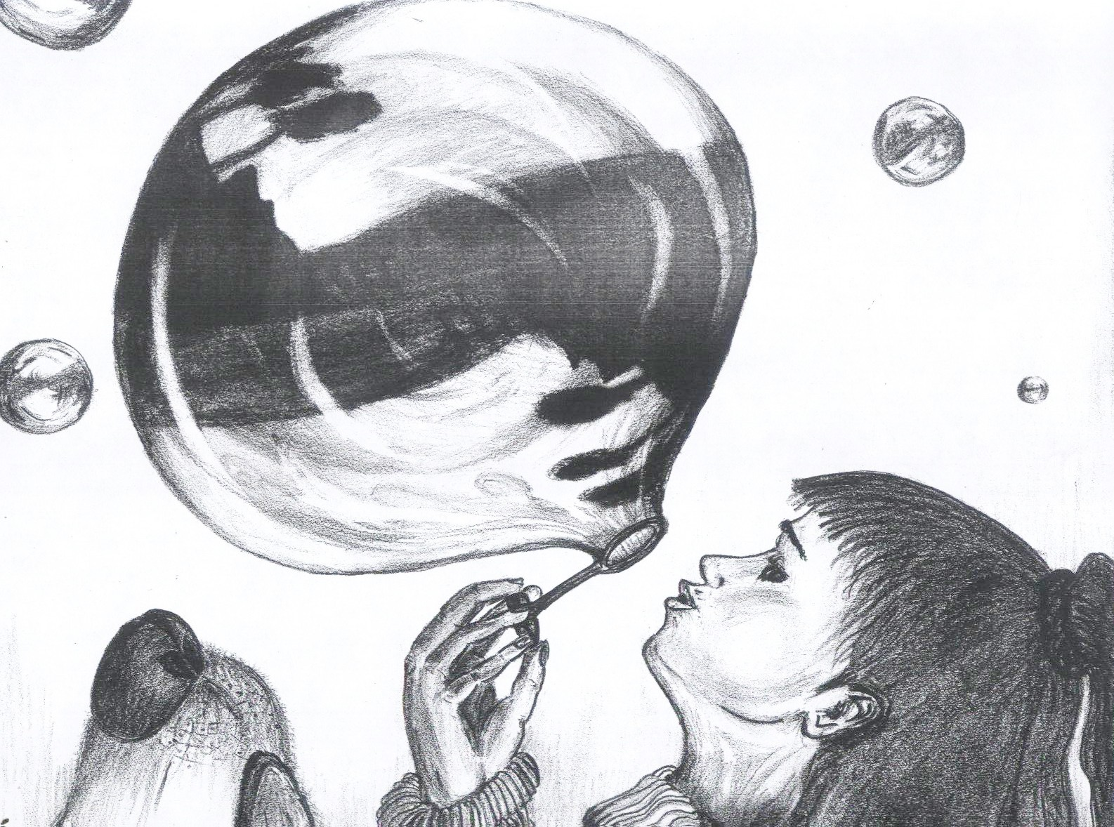 Bubble picture, by metalhips for: reflection drawing ...