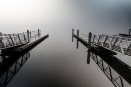 Lonely Morning at the Dock
