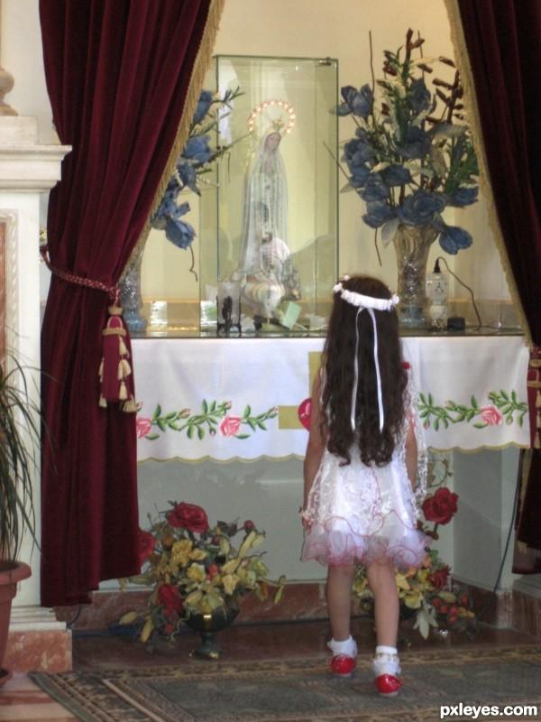Little Girl with faith