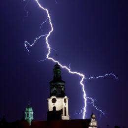 ChurchIlluminatedbyLightning