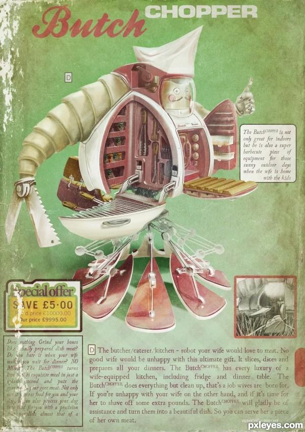 Butcher robot poster