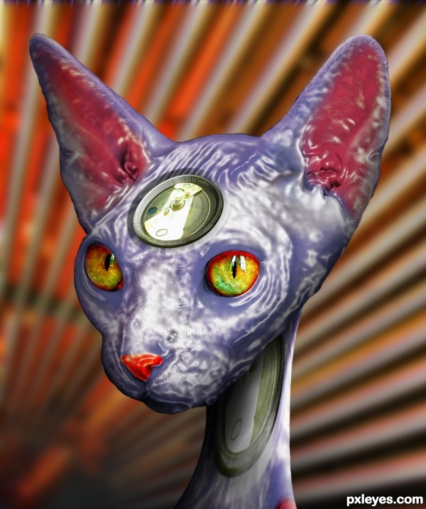 Mech Cat Ikal Liquid Metal