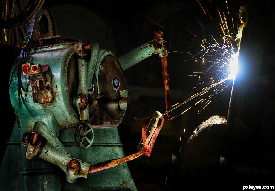 Jock the singing welder