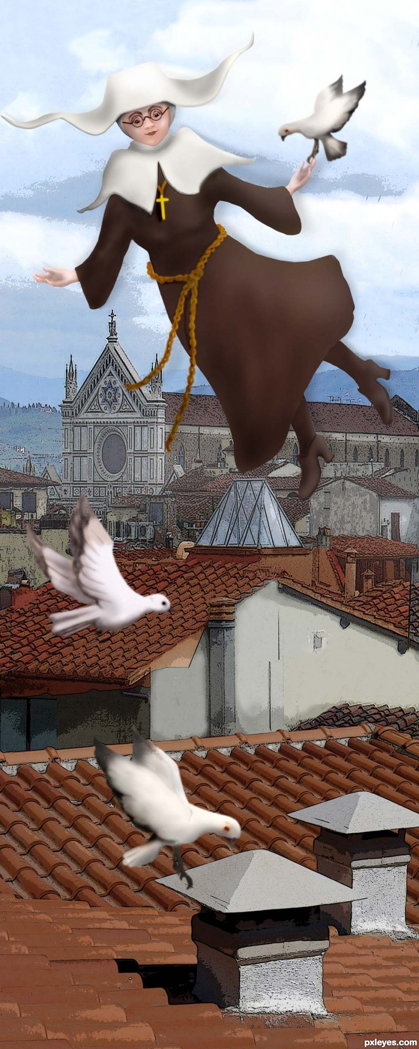 Flying Nun photoshop picture)
