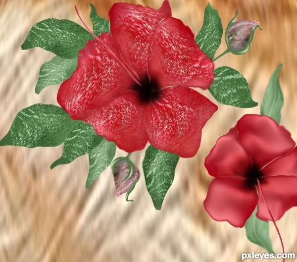 Creation of Hibiscus Hen: Final Result