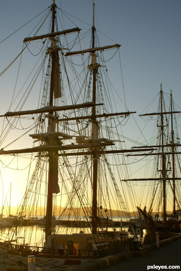 Sailing ship ropes
