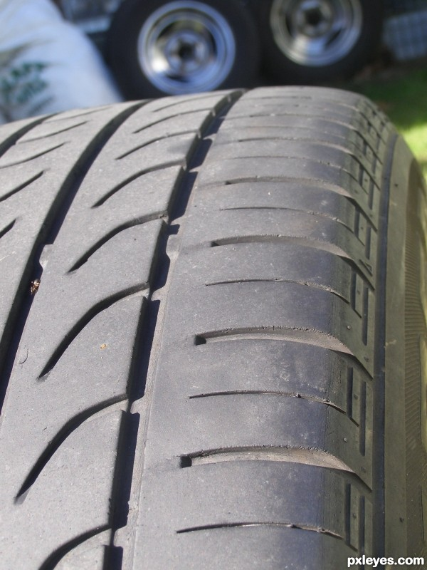 Rubber Tyre.