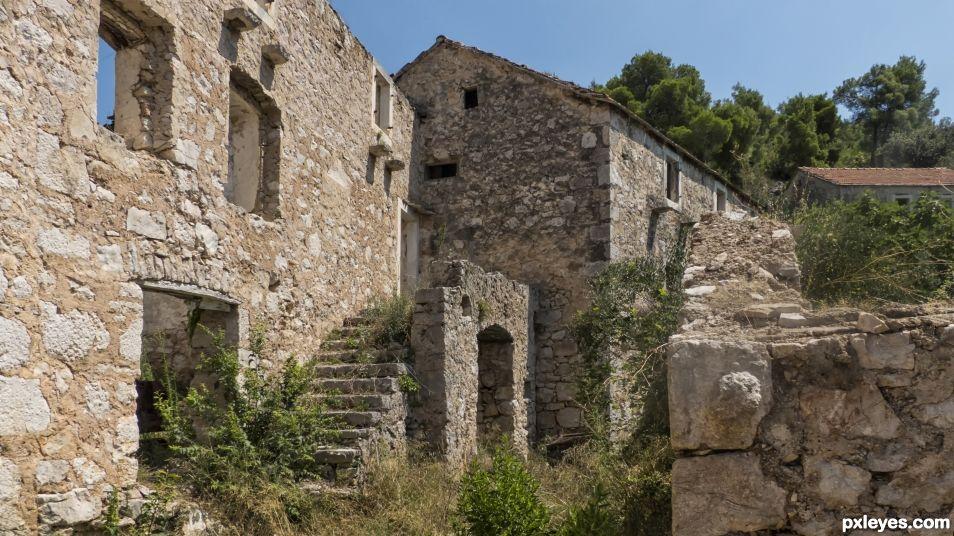 Deserted village in Croatia