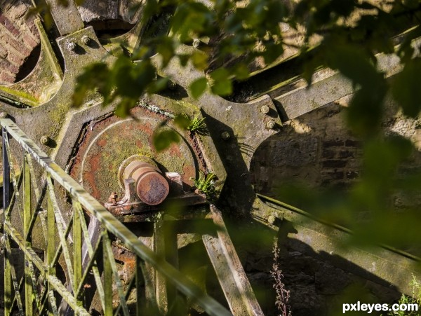 Old rusty waterwheel