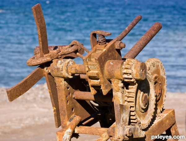 Rusted by the sea and salt