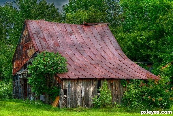 Rusted roof barn
