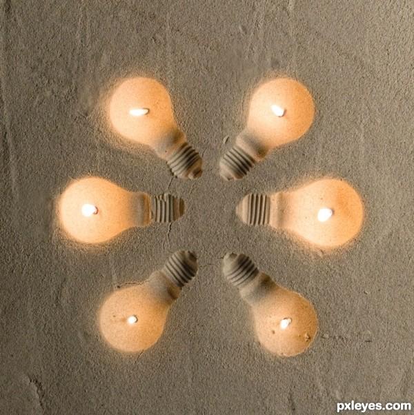 Lightbulbs in the Sand