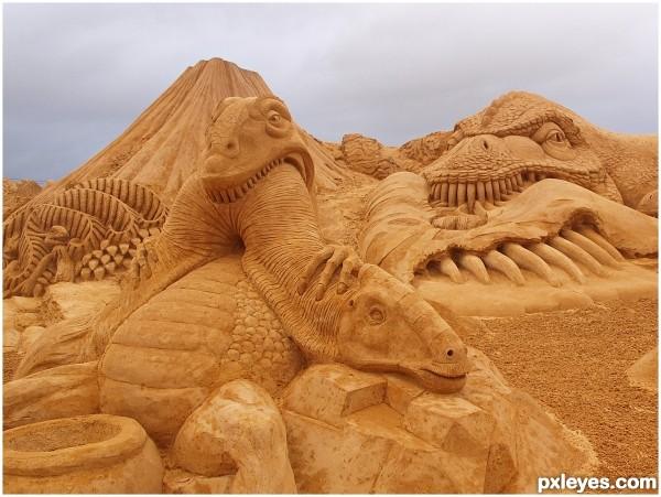 Sand dinosaurs