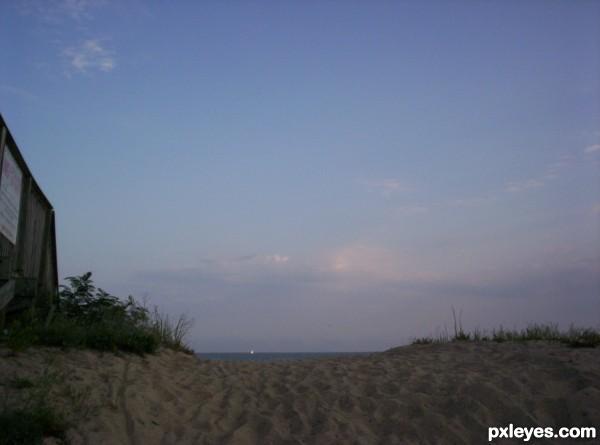 Tiny Speck on the Horizon
