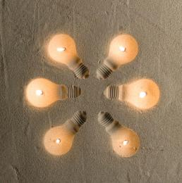 Lightbulbs in the Sand Picture