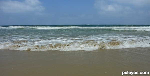Stirred sand